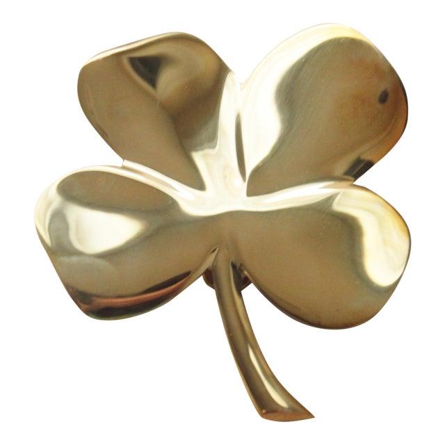 Four Leaf Clover Brass Door Knocker - Image 1 of 4