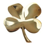 Image of Four Leaf Clover Brass Door Knocker