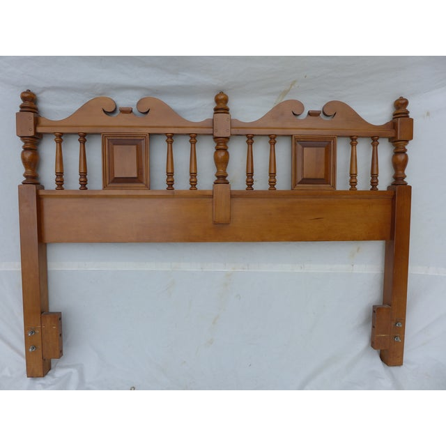 Cottage Style Drexel Haritage Queen Size Headboard - Image 2 of 7