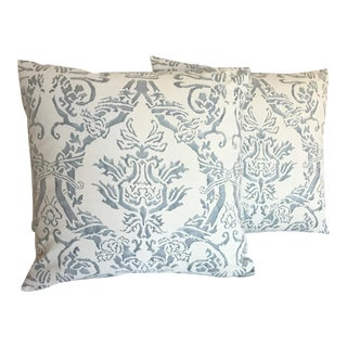 Fortuny Spagnolo Blue and White Pillows - Pair