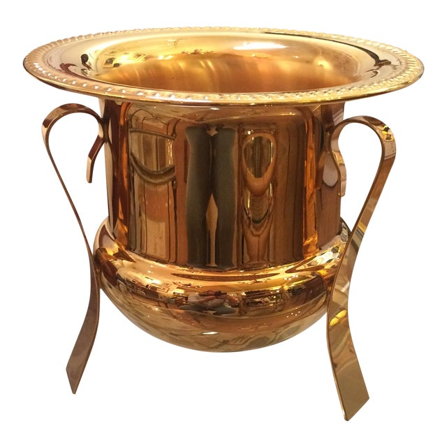 14k Gold Electro Plated Champagne Bucket - Image 1 of 7