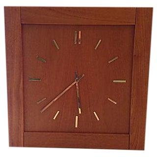 Mid-Century Modern Teak Clock