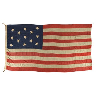 U.S. NAVY SMALL BOAT ENSIGN WITH 13 HAND-SEWN STARS