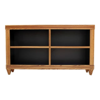 Custom Zebrawood Bookcases
