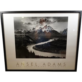 Framed Ansel Adams 'Tetons & the Snake River'