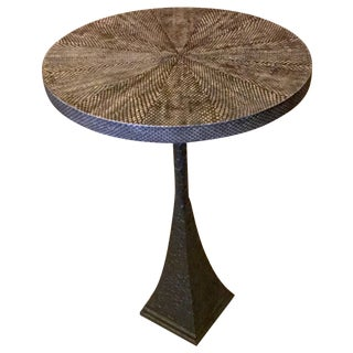 Faux Boa Snake Skin Top Pedestal Table