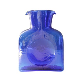 Blenko Cobalt Blue Glass Pitcher
