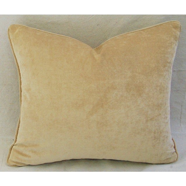 Custom Tailored Antelope Fawn Spot Velvet Feather/Down Pillows- Pair - Image 7 of 10
