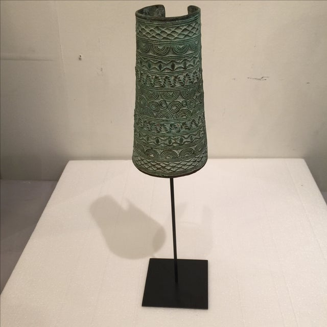 Bronze African Cuff on Stand - Image 2 of 5
