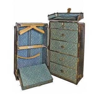 Antique Hartmann Cushion Top Wardrobe Trunk