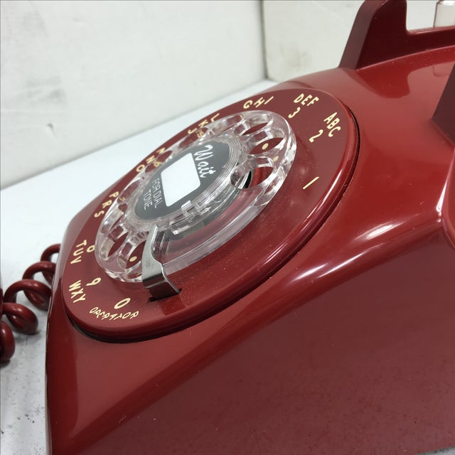 Western Electric Red Rotary Dial Telephone - Image 10 of 11