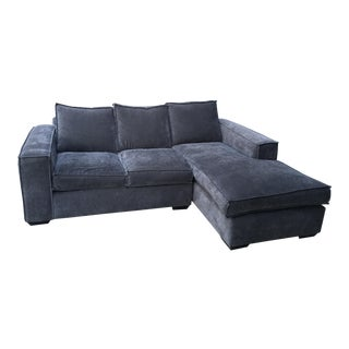 Custom Slate Gray Sectional Couch