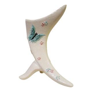 Hull Butterfly Cornucopia Vase