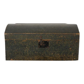 19th Century Original Paint Decorated Dome Top Box from Pennsylvania