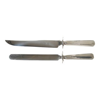 English Art Deco Carving & Sandwich Knife Set