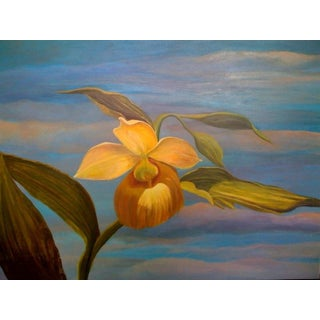 Yellow Orchid With Clouds by Sylvia Roth