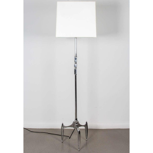 Vintage 1950s French Chrome Plated Floor Lamp - Image 4 of 5