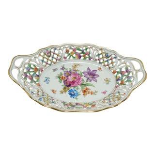 Vintage Porcelain Schumann Dresden Flowers Dish