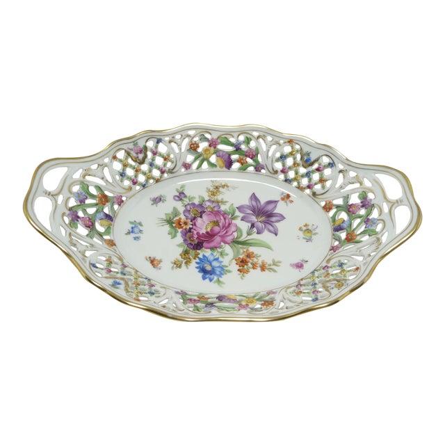 Vintage Porcelain Schumann Dresden Flowers Dish - Image 1 of 8