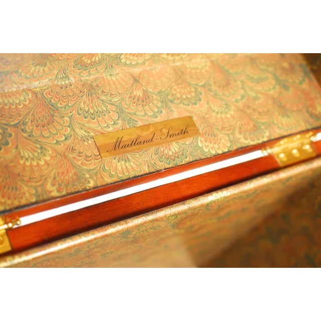 Maitland-Smith Tooled Leather Trunk on Stand - Image 3 of 5