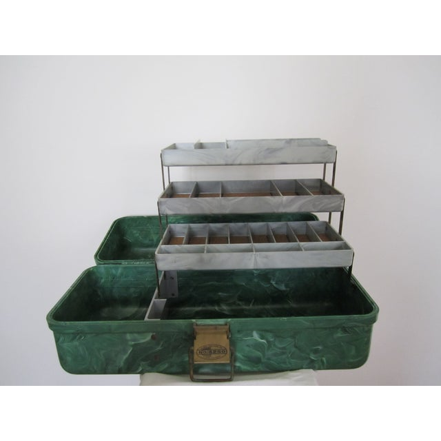 Green Marbleized Malachite Style Storage Box - Image 5 of 8
