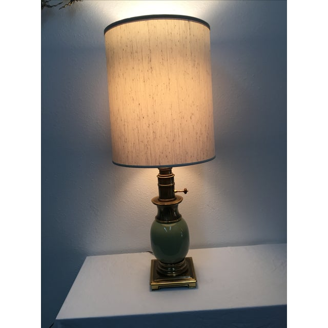 Stiffel Ostrich Egg Table Lamps - A Pair - Image 2 of 6