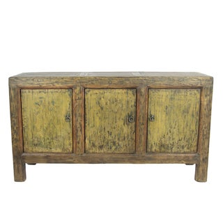 Antique 3-Door Distressed Painted Sideboard
