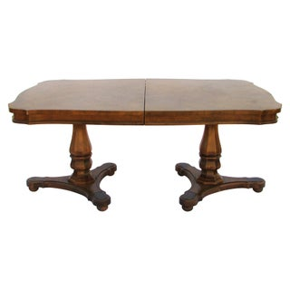 Walnut Pedestal Dining Table