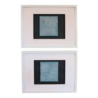 Wishing Well 1 & 2 Framed Paintings under glass by C. Damien Fox 2018 - a Pair
