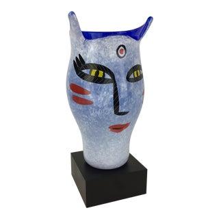 Kosta Boda Hand Painted Art Glass Vase