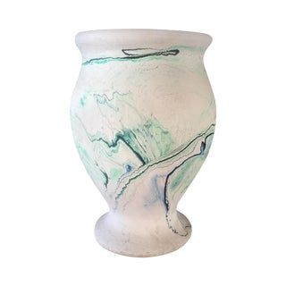 Green and Blue Nemadji Pottery Vase