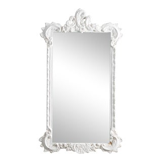 Antique J. A. Olson Company White Mirror