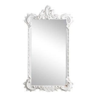 Antique J. A. Olson Company White Mirror