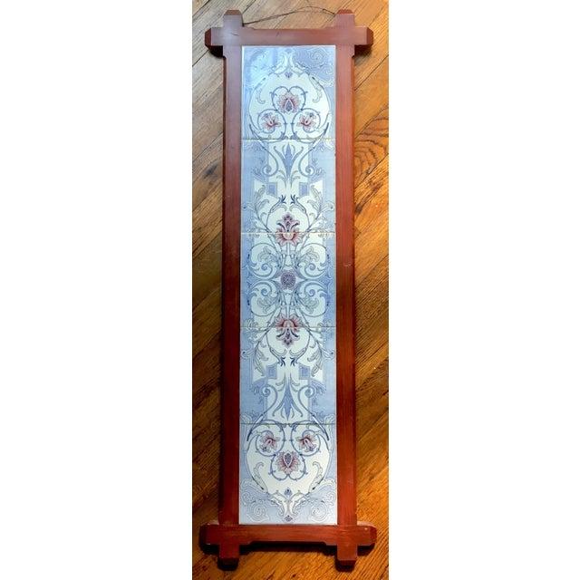 Art Nouveau Tile Wall Hanging | Chairish