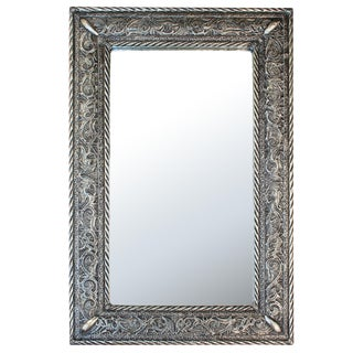 Moroccan Handcrafted & Engraved Metal Mirror