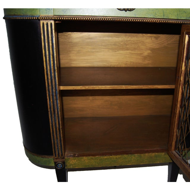Federal Style Mahogany Painted Cabinet Table - Image 6 of 7
