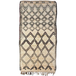 Rare and Unusual Beni Ouarain Berber Carpet
