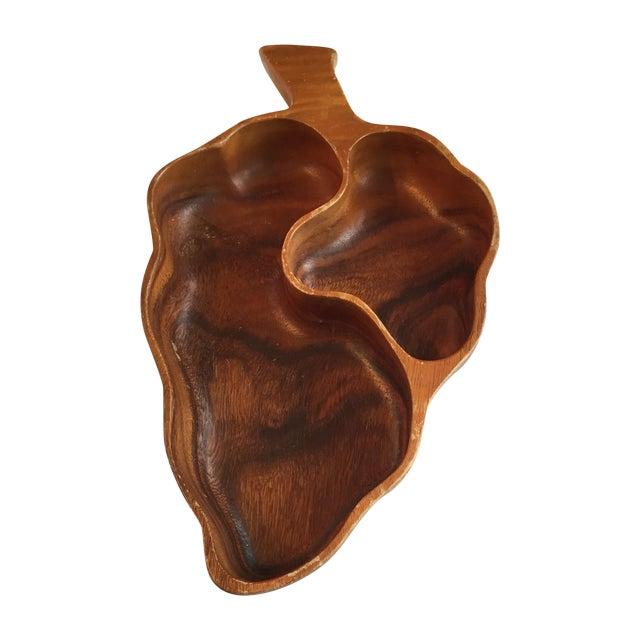 Image of Wood Leaf Chip & Dip Bowl