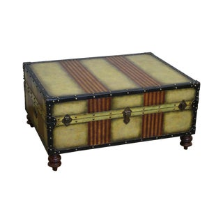 Maitland Smith Campaign Style Suitcase Trunk Coffee Table