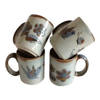 Mid-Century Ken Edwards El Palomar Pottery Mugs - Set of Four