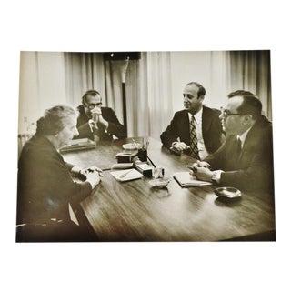 1968 Vintage Original Photo of Former Israeli Prime Minster Golda Meir