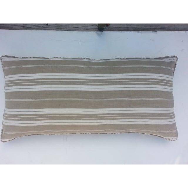 French Ticking Pillow - Image 2 of 3