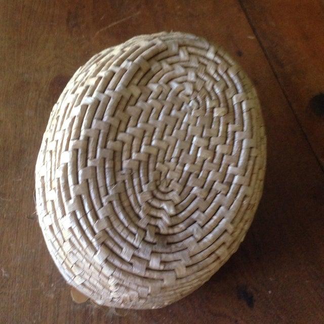 Vintage Natural Wicker/ Straw Bird Basket - Image 6 of 11