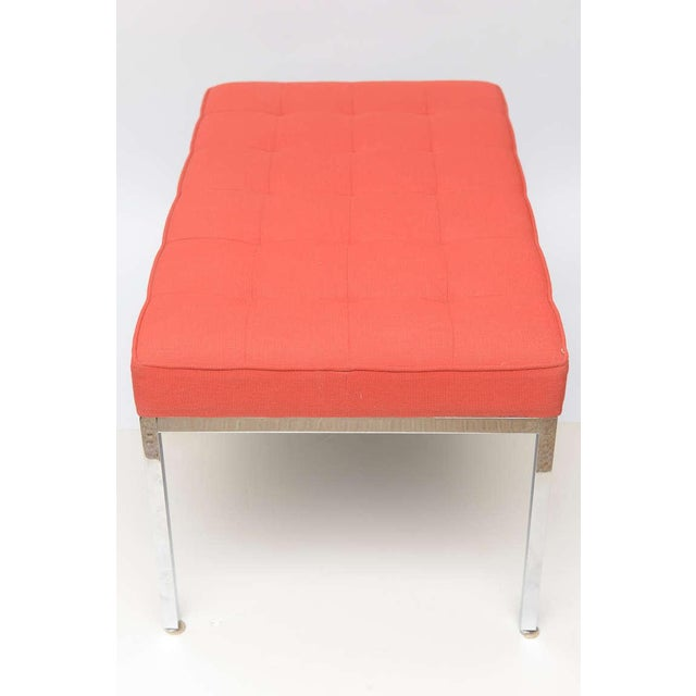 Florence Knoll Stainless Steel Bench - Image 2 of 9