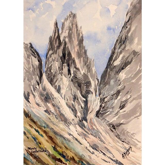 Mid-Century 1958 Monte Castelleto Italy Painting - Image 1 of 4