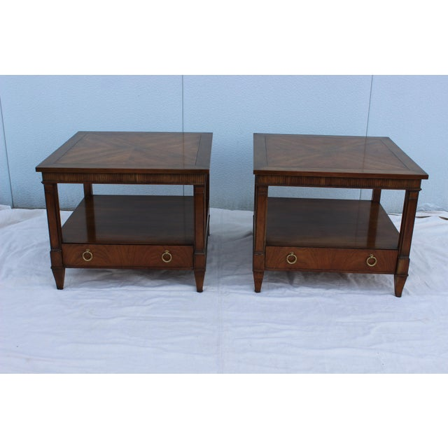 1960s Baker Tiered Nightstands - A Pair - Image 3 of 9