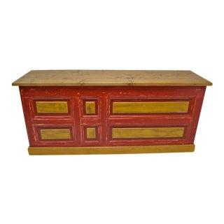 Vintage Pine Shop Counter or Kitchen Island