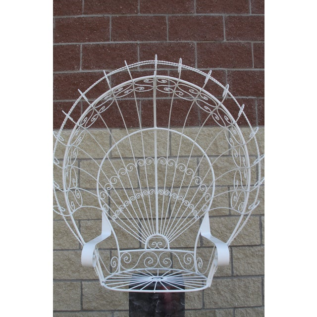 Vintage Metal Hanging Peacock Chair - Image 2 of 10