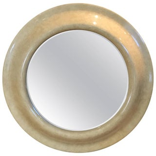 Springer Style Goatskin Circular Mirror