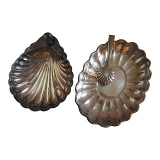 Vintage Scallop Serving Dishes & Tongs - 3 Pieces